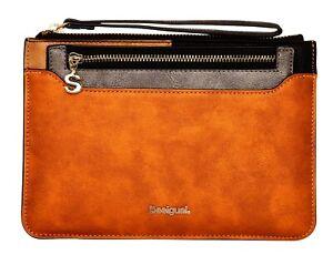 Desigual-Damen-Geldboerse-gross-Brieftasche-Handgelenk-Tasche-NEU-18WAYP06-9003
