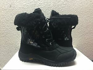 Image is loading UGG-ADIRONDACK-II-QUILTED-BLACK-Bella-Boot-US-