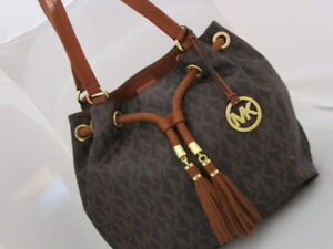 Image Is Loading Michael Kors Jet Set Ns Large Gathered Tote