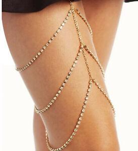Rhinestone-Body-Jewelry-Crystal-Leg-Chain-Beach-Jewelry