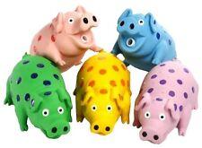 """Multipet 9"""" Latex Polka Dot Goblet Pig Dog Toy Assorted"""