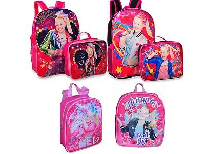 JoJo Siwa Girls 5-Piece School Backpack Lunch Box Book Bag Bow Star Gift Toy
