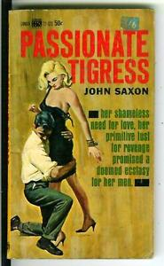 1965 Sleaze//GGA//Fiction//Adult//Pulp E-102 Passionate Tigress Saxon Lancer