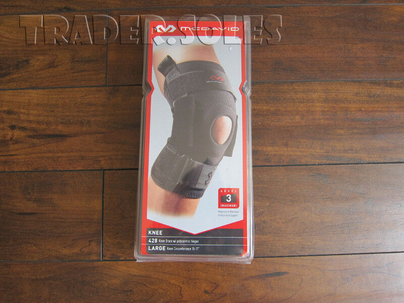 MCDAVID 428 KNEE BRACE w POLYCENTRIC  HINGES LEVEL 3 SUPPORT - LARGE  high quaity