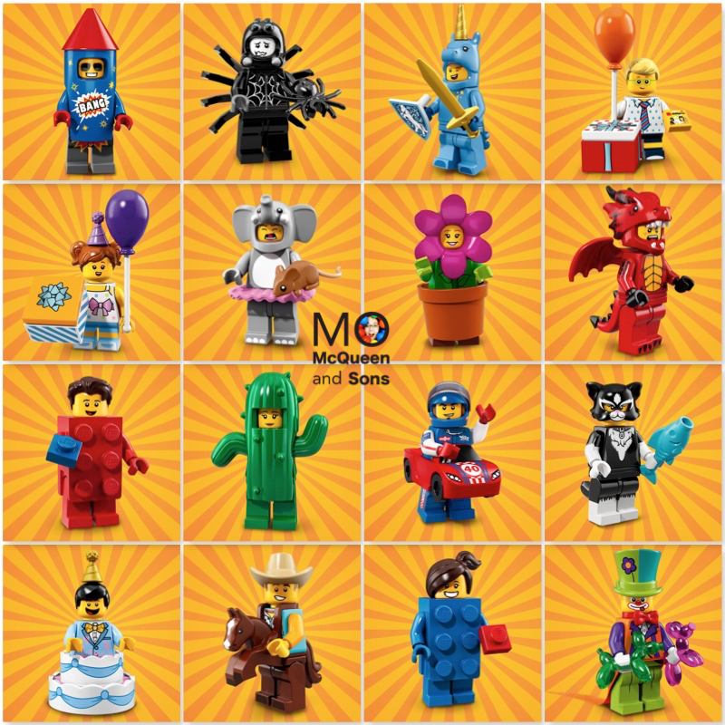 LEGO 71021 Series 18 MINIFIGURES 16 FACTORYSEALED Set Party Theme CMF Incomplete