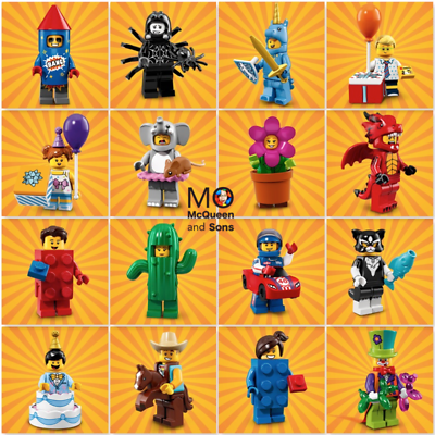 Party Suit Theme 71021 Factory Sealed Box of 60 Lego Minifigures Series 18