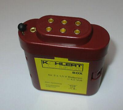 Kahlert 60897 Batteriebox mit Kappe für 3x1,5 Volt Batterien   *NEU//OVP*