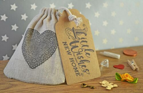 Little Bag of Wishes for New Home Novelty Handmade Keepsake Gift /& poem
