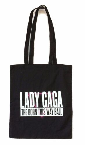 Lady Gaga The Born This Way Ball Black Tote Bag New Official Singer Merch