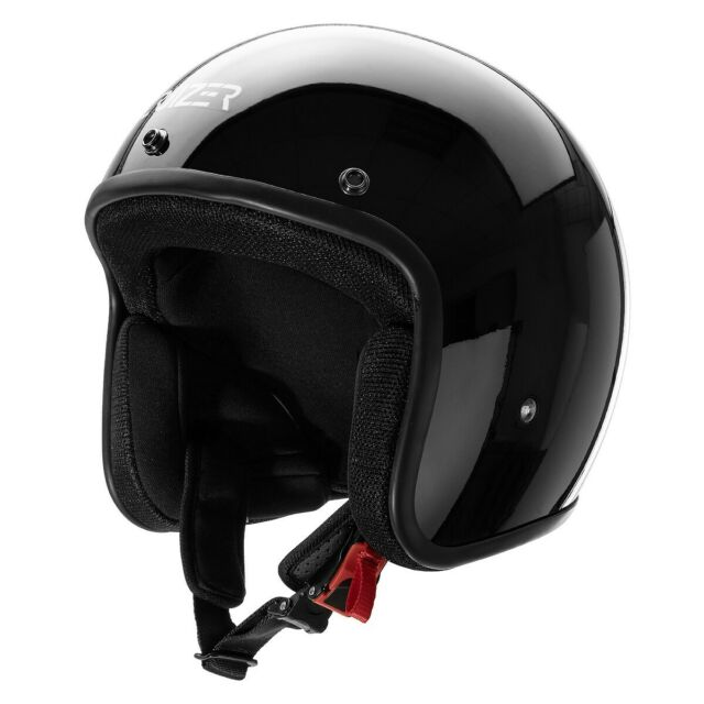 CRUIZER Casco Omologato Moto Scooter Custom JET Senza Visiera + ParaSole