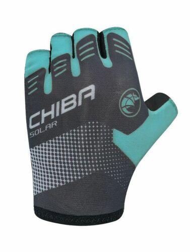 Chiba Solar Fahrrad Handschuhe kurz schwarz//türkis 2020
