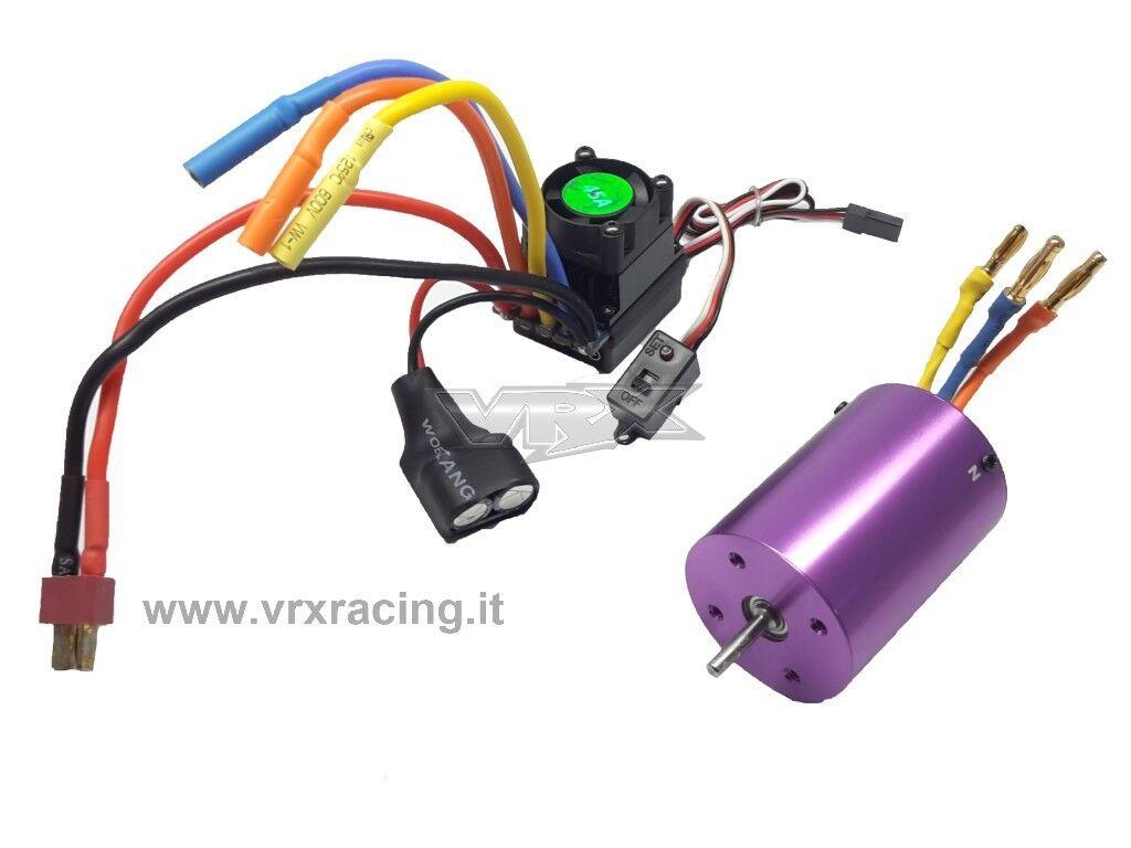 H0026-H0028  Combo Motore brushless 3000kv  e Regolatore brushless 45A 1 10 VRX  nessun minimo