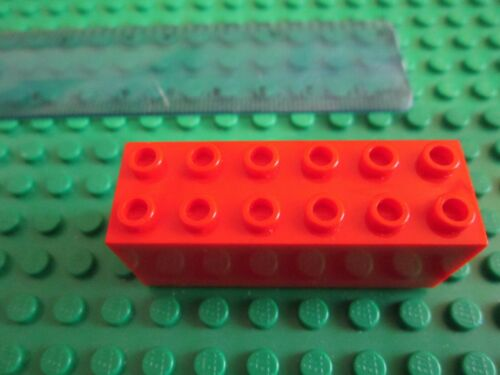 Modified 2 x 6 x 2 Weight for Ship or Crane Counterweight RED LEGO Large Brick