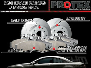 Protex-Rear-Brake-Rotors-amp-Ultra-Pads-suits-Volkswagen-Passat-R36-Rear-PR-1KU