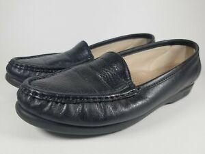 Women-SAS-Tripad-Comfort-Black-Leather-Slip-On-Loafer-Shoe-USA-8-5M