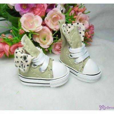 Yo SD OB Male 1//6 Bjd Doll Shoes Denim Folded Sneaker Brown Foot 4.5cm long