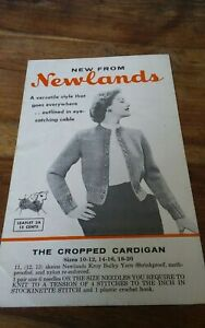Vtg-Newlands-knitting-pattern-The-cropped-cable-cardigan-womens-size-10-20