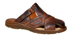NUOVO Originale Buffalo Leather Uomo Sandali Comodi FORM ORTOPEDICO UK 711
