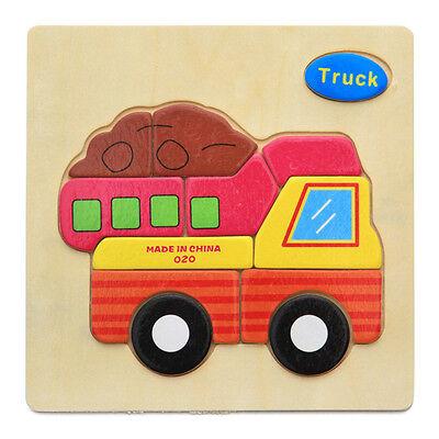 1Pcs Kids Wooden Cartoon 3D Puzzles Toys Children Gaming Blocks Educational Toys