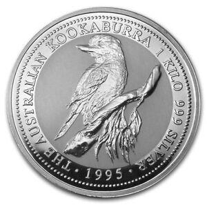 1995-P-Australia-30-Dollars-KM-271-Fine-999-Silver-1-Kilo-Kookaburra-Coin-BU