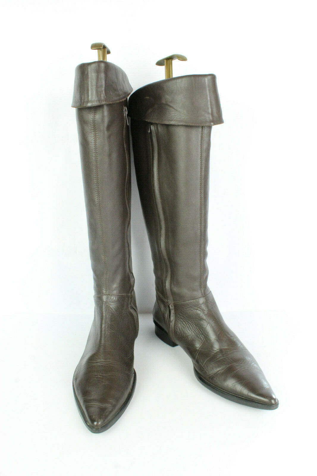 Boots Heyraud Brown Leather Farmer Outfit 12 UK 6.5 Very Good Condition