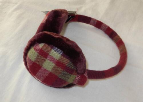 11 Styles! New Women/'s Solid /& Plaid Fur-Trimmed Earmuffs One Size Fits Most