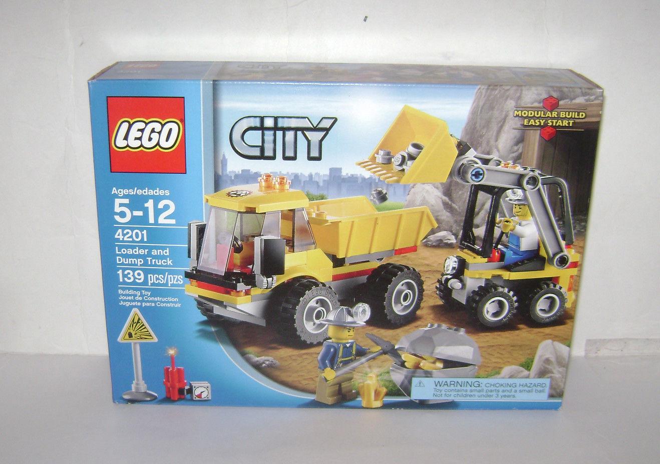 Nouveau 4201 LEGO CITY Pelleteuse et Camion Benne Construction Jouet Boîte Scellée RETRAITÉ RARE un
