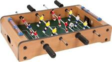 Mini SOCCER FOOSBALL Tabletop Game w/ 2 balls wood grain finish score board NEW