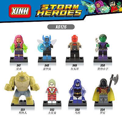 8pcs Minifigures Killer Croc Beast Boy Building Blocks Toy Lego 100% Compatible