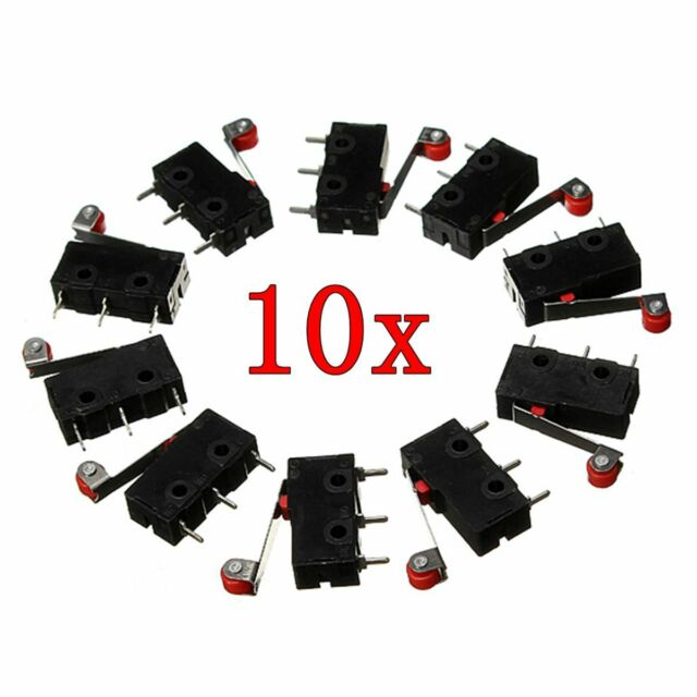 10 x KW12-3 PCB Micro Roller Lever Arm Open/Close Terminals Limit Normal Switch