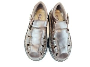 Mens-8-M-GBX-Fisherman-Sandals-Brown-Leather-Slip-On-Shoes
