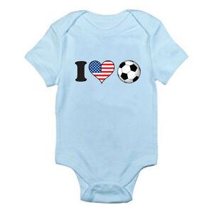 I LOVE FOOTBALL - USA / American / America Flag / Fun Themed Baby Grow / Suit