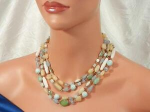 borealis layered fashion set necklace lucite bauble aurora