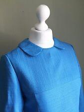 VINTAGE 60s MOD Peter Pan Collar MINI Dress - Vtg RETRO Twiggy Rounded Collar 10