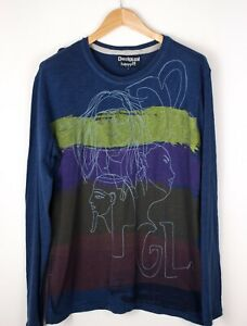 DESIGUAL-Men-Casual-Henley-Sweater-Jumper-Size-L-ATZ695