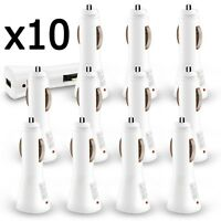 10 X Wholesale Lot White Usb Car Charger 1000 Mah For Iphone 6 Galaxy S6 S7 on sale