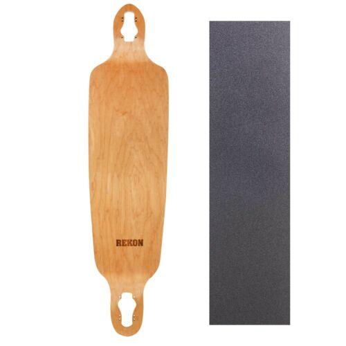 "Rekon 9.75/"" x 39.75/"" Drop Through Fiberglass Longboard Deck With Grip Tape"