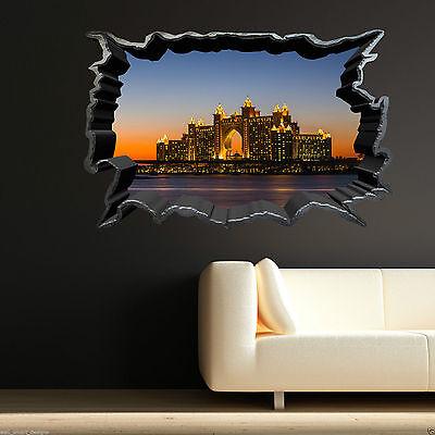 Full Colour DUBAI ATLANTIS SEA bedroom room wall art sticker decal transfer