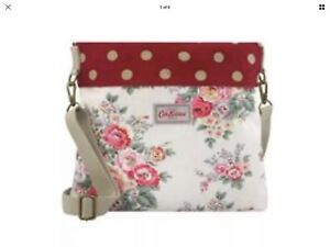 modern style preview of shop for authentic Details about CATH KIDSTON REVERSIBLE MESSENGER BAG Candy flowers/Red Spot  BNWT