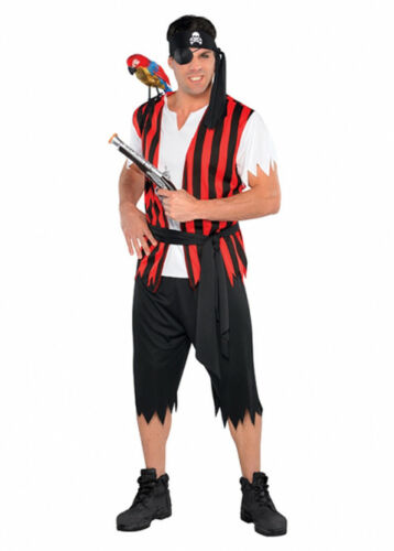 Adult Mens Ahoy Matey Striped Pirate Costume