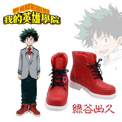 b923a851 My Boku no Hero Academia Midoriya Izuku Unisex Red Cos Shoes Cosplay Props  Boots