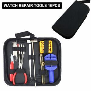 Uhr-Werkzeugset-Reparaturset-Tool-Uhrenarmband-wechsel-Gehaeuseoeffner-Set-16tlg