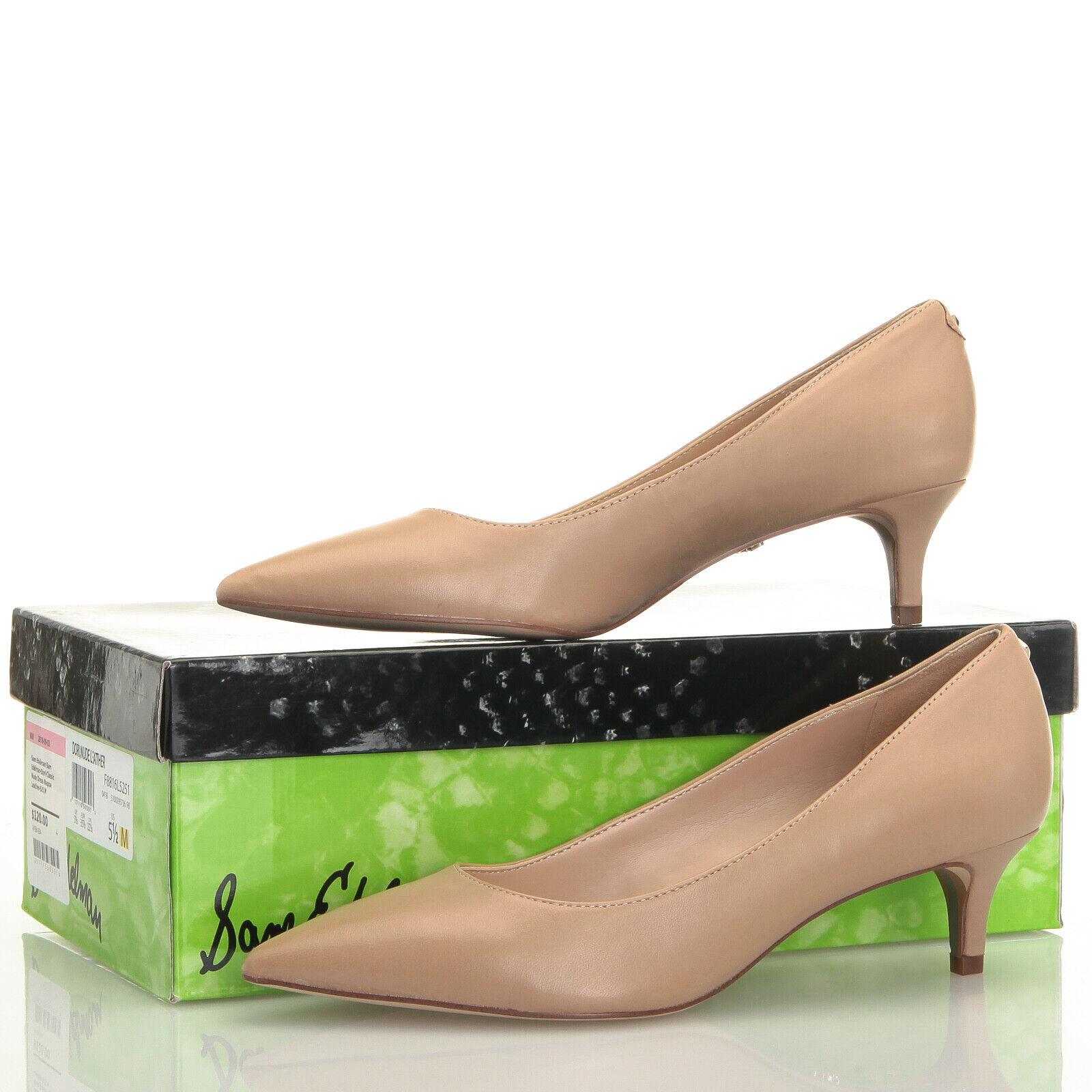 Sam Edelman Dori Nude Beige Nappa Leather Kitten Heels - Size 5.5 M