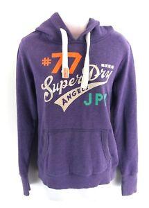 coton à Superdry S Sweat Jumper et Femme violets capuche Petit polyester OS4Aqwnx64