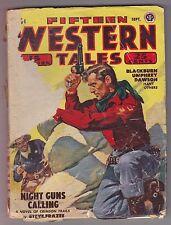 Fifteen Western Tales Sep 1948 Pulp Joe Archibald Talmage Powell Wallace Umphrey