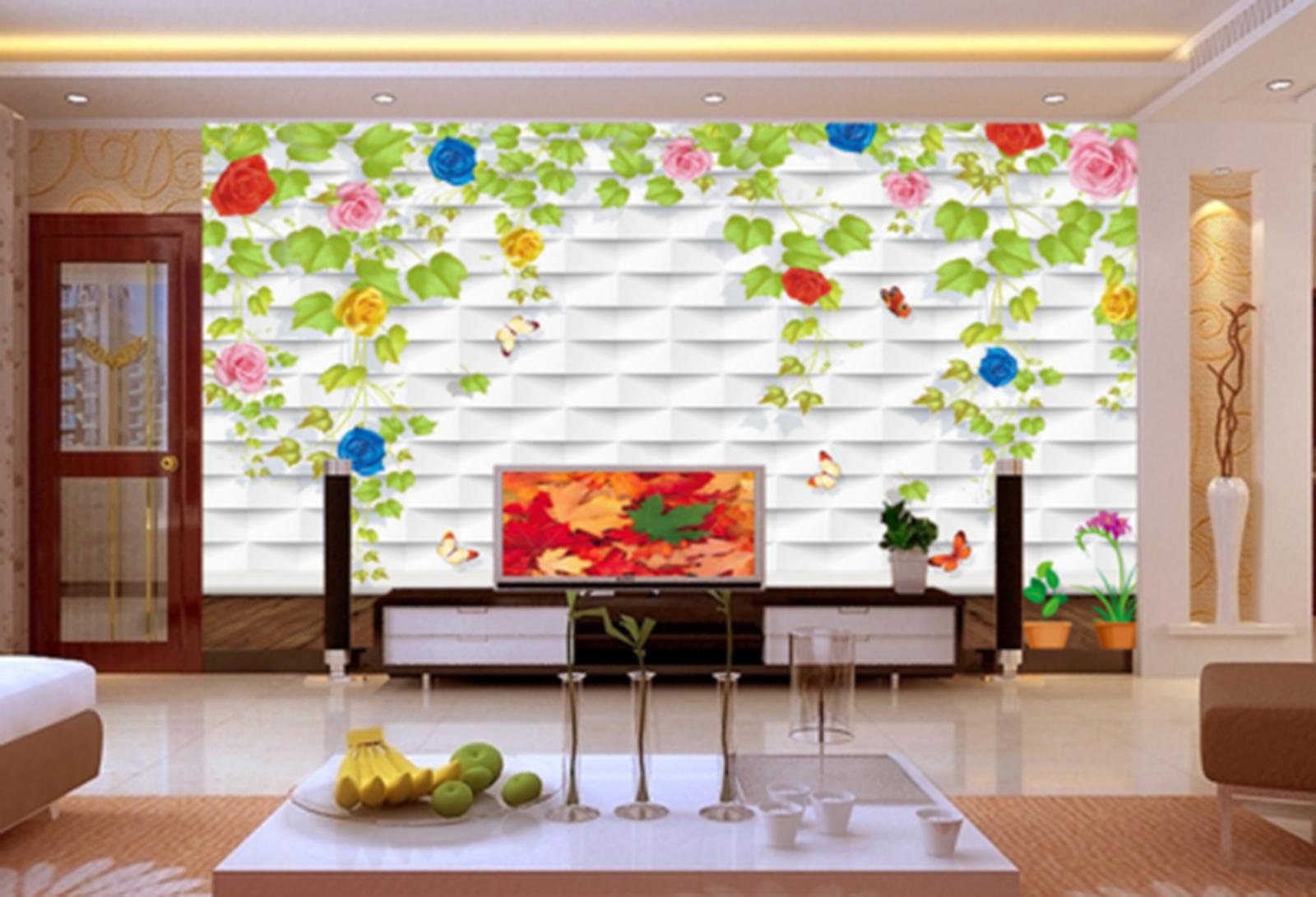 3D Grün Alpine Tiger Petal Paper Wall Print Wall Decal Wall Deco Indoor Murals