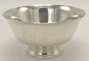 Reed & Barton Sterling Silver Bowl X1455 Paul Revere Reproduction 5 1/4""