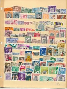 484 WORLDWIDE STAMPS ON STOCK PAGES. VERY CLEAN. MINT & USED. HINGED/NOT HINGED