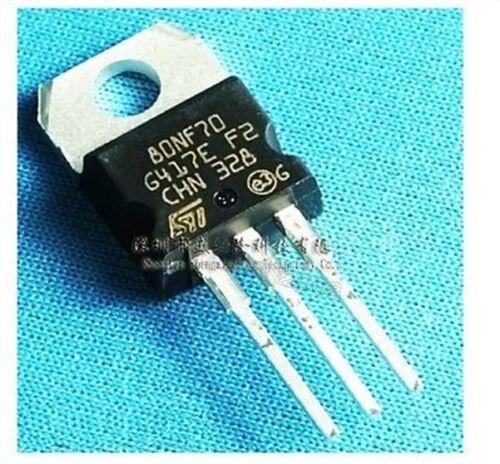 2Pcs STP80NF70 P80NF70 St Mosfet-Transistor Bis 220 bb