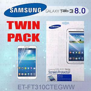 GENUINE-Samsung-Galaxy-Tab-3-Clear-8-0-inch-LCD-Screen-Protector-Guard-x-2-Kit